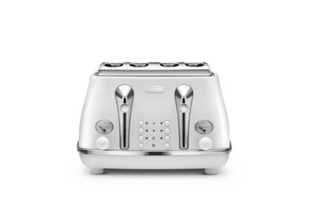 Delonghi Elements Cloudy White 4 Slot Toaster