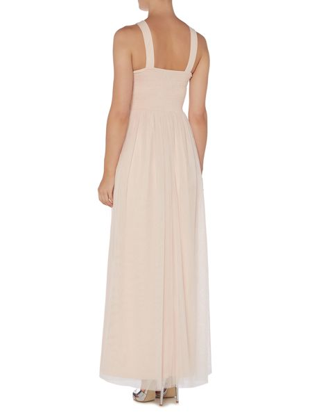 Little Mistress Cross Front Cut Out Maxi Dress