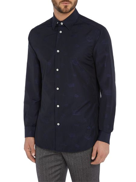 Vivienne Westwood Regular fit tonal crown print shirt