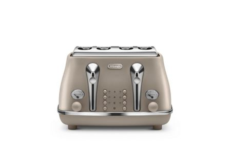 Delonghi Elements Desert Beige 4 Slot Toaster