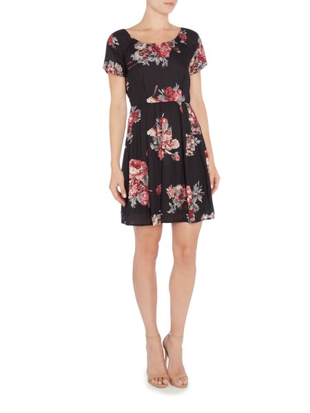 Vila Cap Sleeve Printed Dress