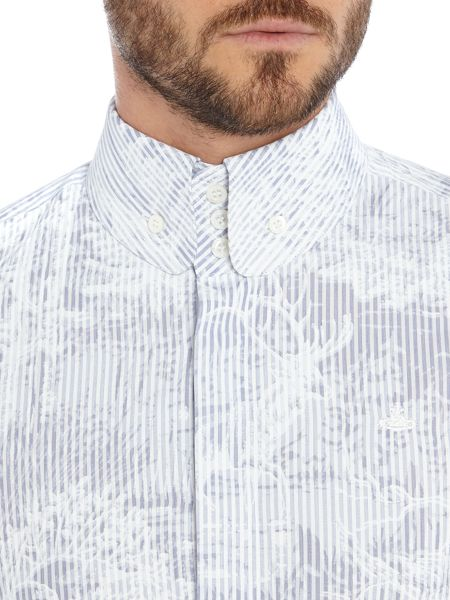 Vivienne Westwood Regular fit stripe pattern button down shirt
