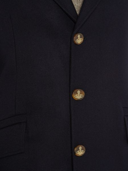 Vivienne Westwood 3 button wool overcoat