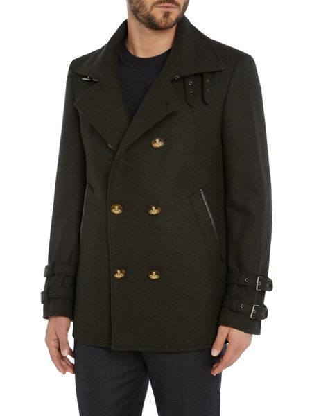 Vivienne Westwood Collared double breasted pea coat