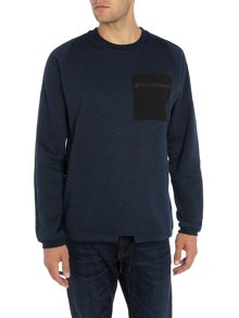 Jack & Jones Pocket Detail Draw String Waist Sweatshirt