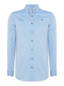 Vivienne Westwood Slim fit button down oxford orb logo shirt