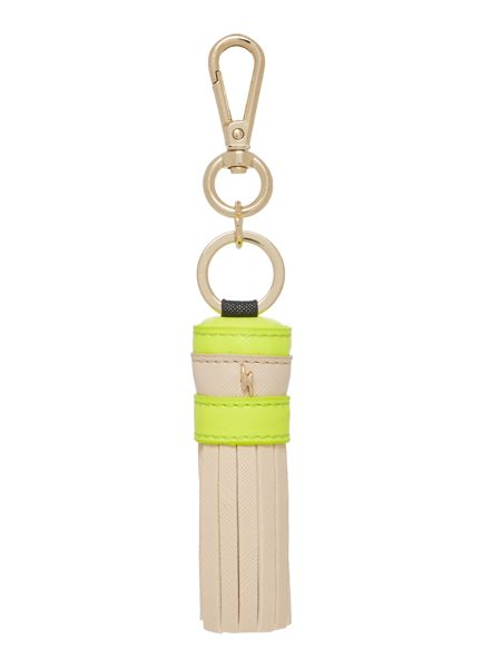 Paul's Boutique Trinkets-Gold Neutral/Yellow Tassel Keyring