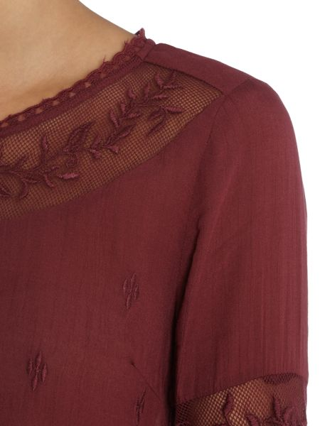 Vila Embroidered Detail Top