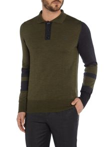 Vivienne Westwood Fine guage block knitted polo shirt