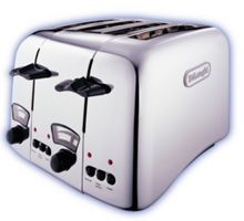 Delonghi Argento Chrome 4 Slot Toaster
