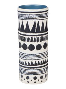 Linea Kamina patterned column vase