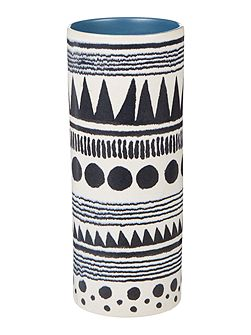 Kamina patterned column vase
