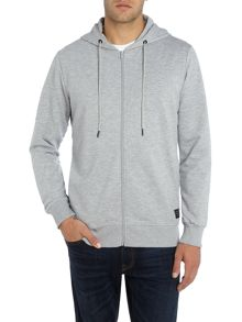 Jack & Jones Zip Through Hurricane Hooded Sweatshirt