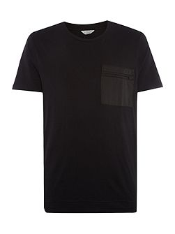 Zip Pocket Crew Neck T-shirt