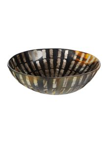Linea Large etched horn bowl