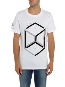 Jack & Jones Cube Graphic Crew Neck T-shirt