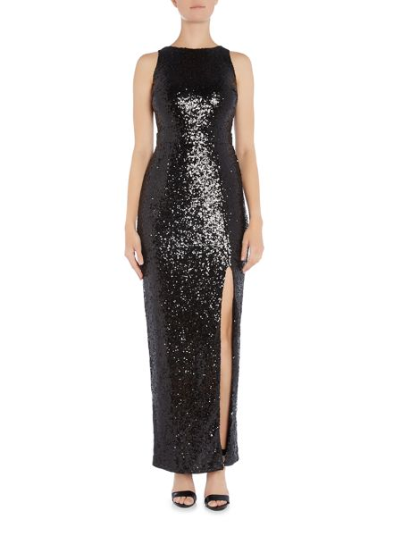 tfnc Sleeveless Sequin Split Maxi Dress