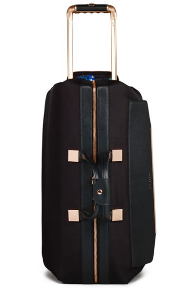 Ted Baker Ladies albany black 2 wheel trolley duffle