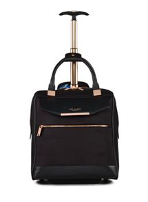 Ted Baker Ladies albany black 2 wheel business trolley