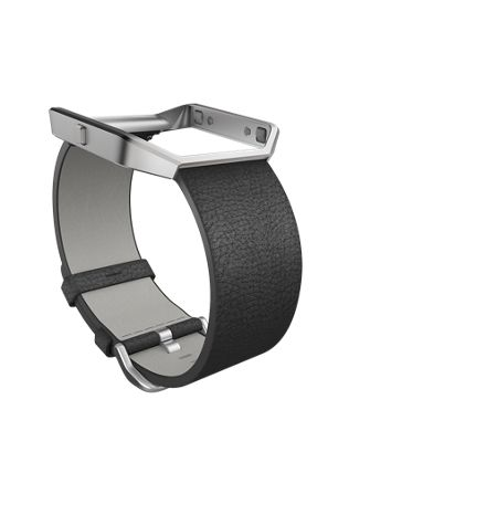 Fitbit Blaze Black Leather Accessory Band, Small