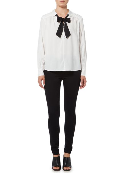 Vero Moda Long Sleeve Tie Shirt Top