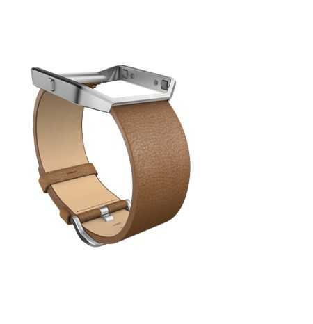 Fitbit Blaze Camel Leather Accessory Band, Large