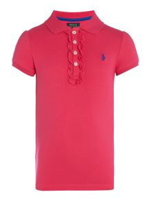 Polo Ralph Lauren Girls Ruffle Detail Polo Shirt