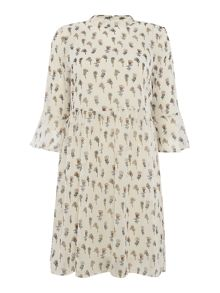 Vero Moda 3/4 Sleeve High Neck Dress