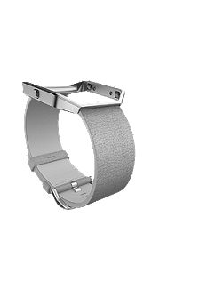Blaze Mist Grey Leather Accessory Band, Large
