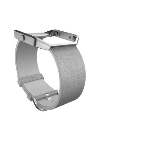 Fitbit Blaze Mist Grey Leather Accessory Band, Large