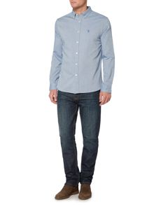 Howick Royalton Birdseye Oxford Long Sleeve Shirt