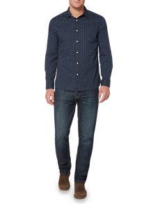 Howick Brunswick Geo Print Long Sleeve Shirt