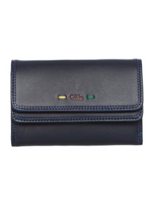 Tula Violet navy medium flapover purse