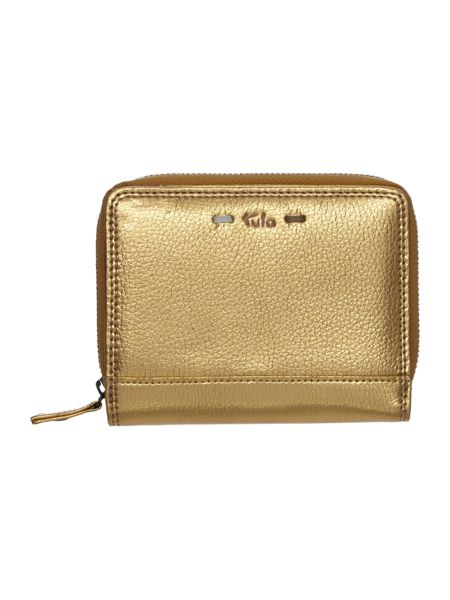Tula Violet gold medium flapover purse