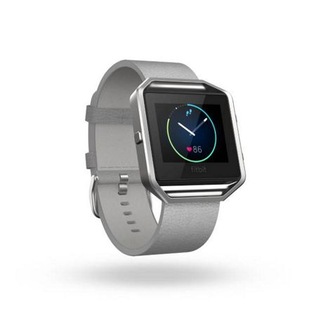 Fitbit Blaze Mist Grey Leather Accessory Band, Small