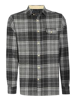 Manhattan Brushed Check Long Sleeve Shirt