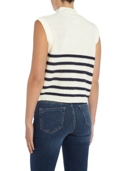 Vero Moda Sleeveless High Neck Knitted Crop