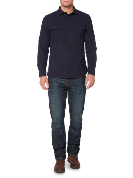 Howick Oregon Brushed Twill Long Sleeve Shirt