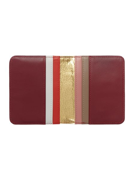 Tula Violet burgundy small card holder