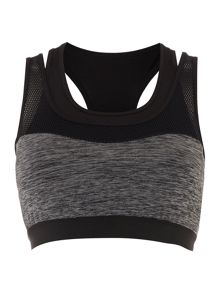 Label Lab Light support double layer crop top