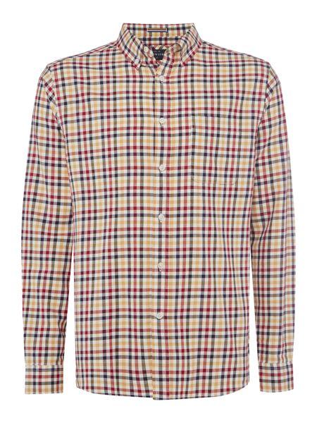 Howick Fallston Gingham Check Long Sleeve Shirt
