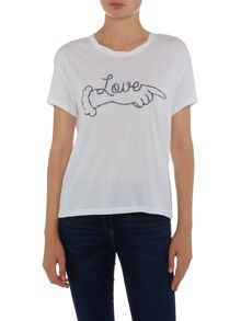 Zoe Karssen Short sleeve love series tee