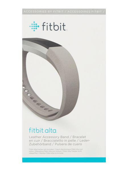 Fitbit Alta Graphite Leather Accessory Band, Large