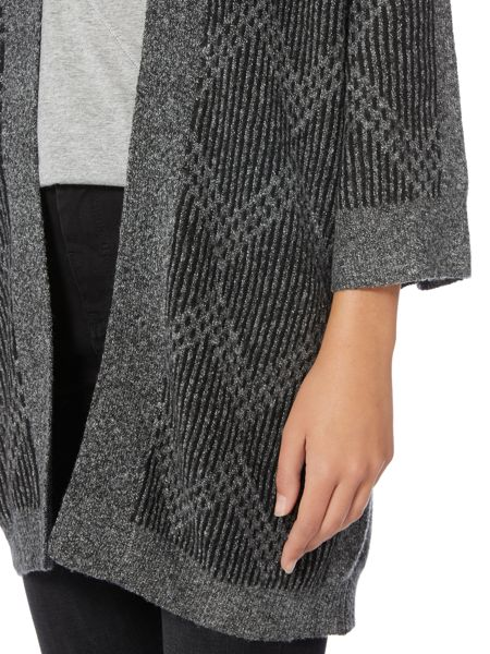 Label Lab Anwell charcoal marl supersoft jaquard kimono