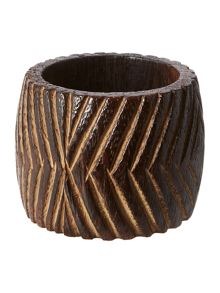 Linea Tribe wooden napkin rings set of 4