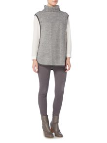 Gray & Willow Tabard Roll Neck Sleeveless Jumper