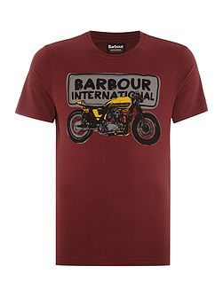 Short sleeve sketch motorcycle tee