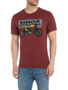 Barbour Short sleeve sketch motorcycle tee