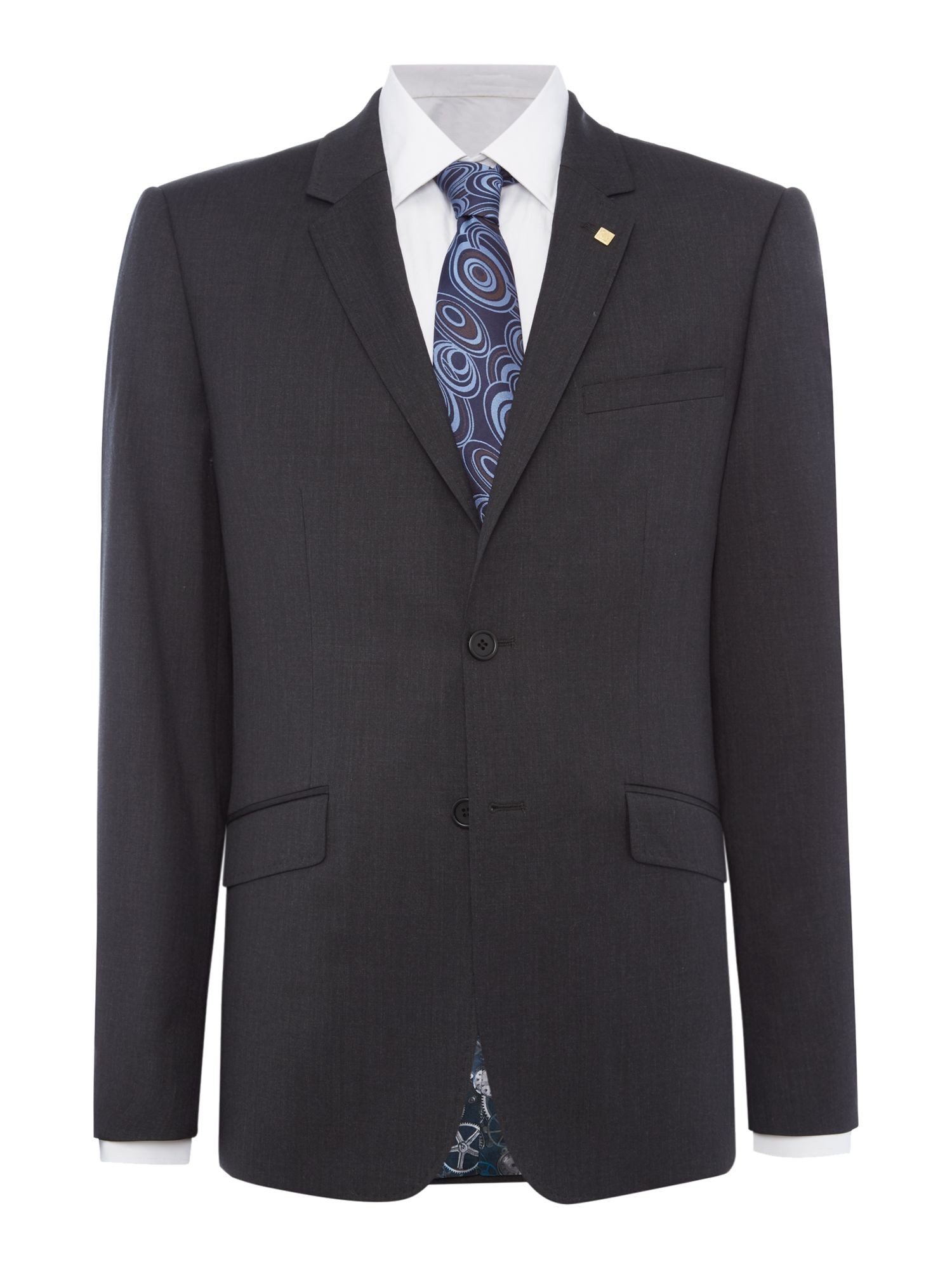 Mens Ted Baker Timeless Slim Fit Suit Jacket Charcoal