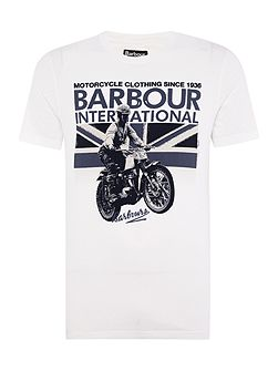 Short sleeve rider union jack motorcycle tee